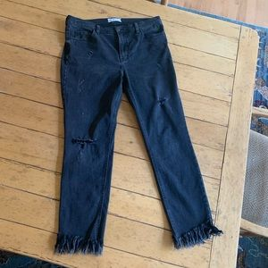 Free People Great Heights frayed jean in black